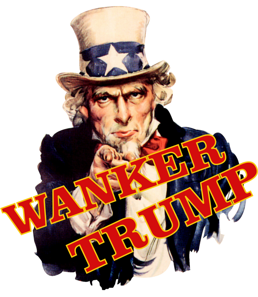 Uncle Sam says Trump Total Goat Wanker